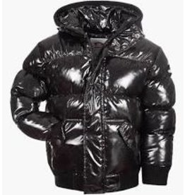 Appaman Black Glitter Shiny Puffy Coat
