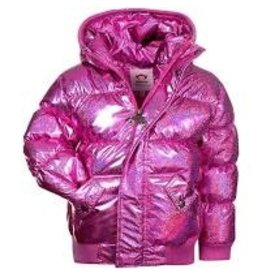 Appaman Pink Sparkle Puffy Coat