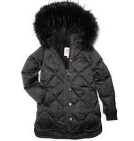 Appaman Sloan Black Mid-length Puffer Coat