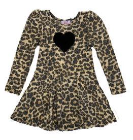 Sofi Soft Leopard Waffle Fabric Dress