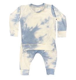 Too Cute Light Blue Tie Dye Jog Suit