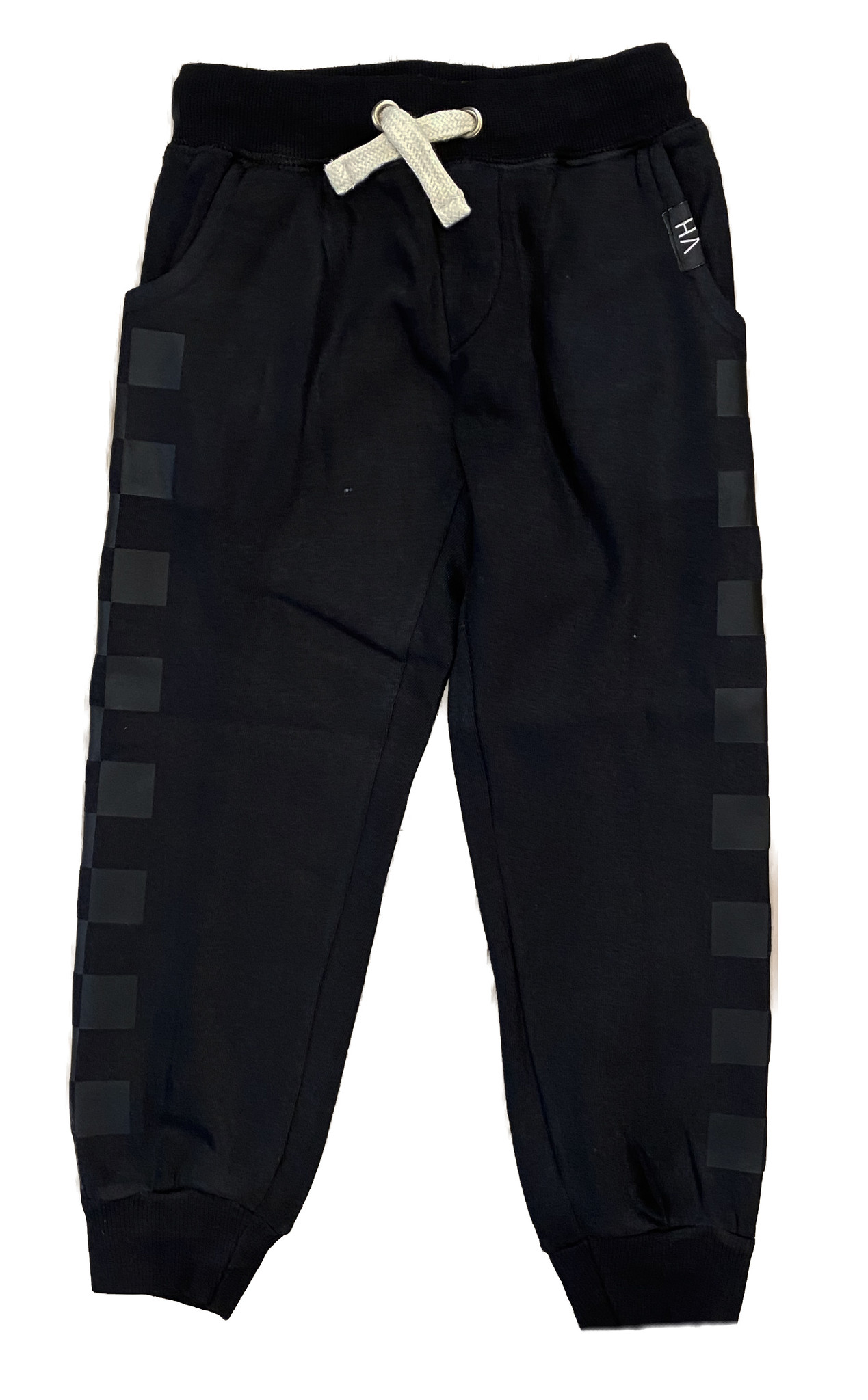 Vintage Havana Boys Black Sweatpant with Tonal Detail