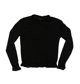 Firehouse Black L/S Shirt with Ruffle