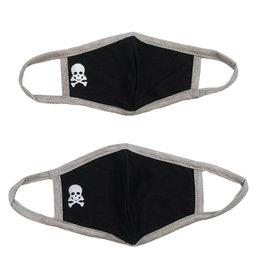 Black/Grey Skull Mask for Kids/Tween