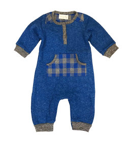 Miki Miette Royal Plaid Romper