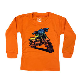 Wes and Willy Orange Bike Tee