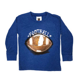 Wes & Willy Infant Heathered Blue Football Top