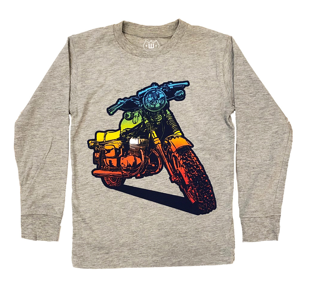 Wes and Willy Grey Bike Tee