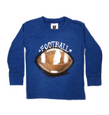Wes & Willy Heathered Blue Football Top