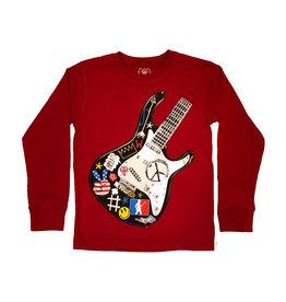 Wes and Willy Red Guitar Tee