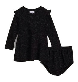 Splendid Black Sparkle Dress Set