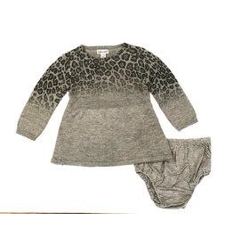 Splendid Ombre Grey Leopard Sweater Dress
