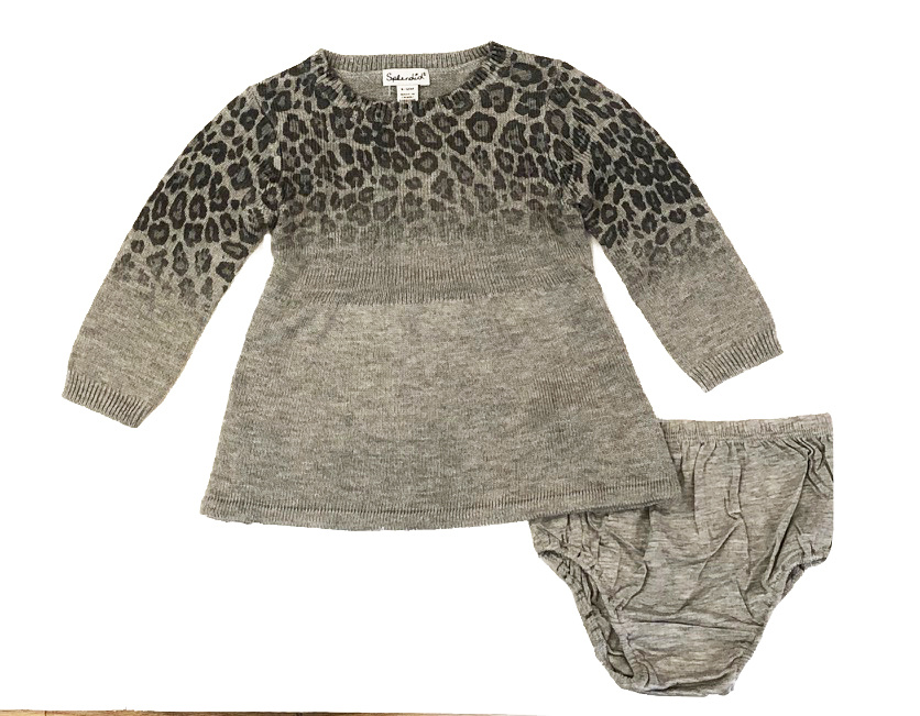 Splendid Ombre Grey Leopard Sweater Dress