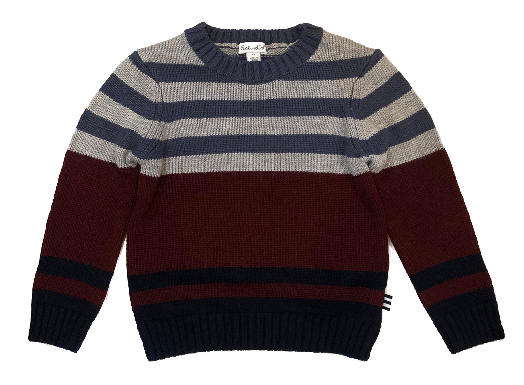 Splendid Red/Blue Stripped Sweater