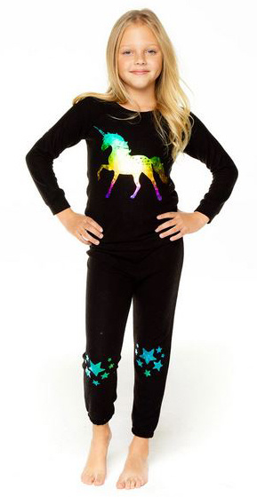 Chaser Knit Cozy Unicorn Top