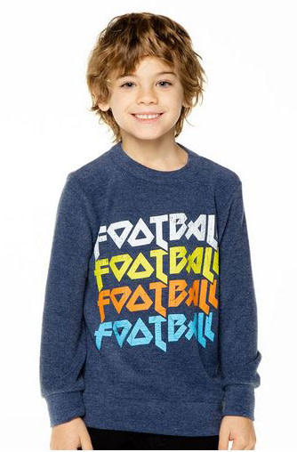 Chaser Cozy Knit Football x4 Top