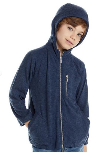 Chaser Soft Blue Zipup Hoodie