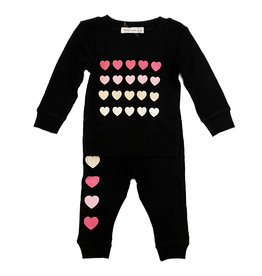 Little Mish Black Hearts/ Love Thermal Set