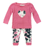 Little Mish Hot Pink TD Heart Set