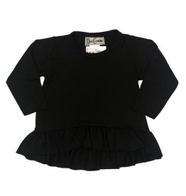 Dori Creations Black Long Sleeve Ruffle Infant Top
