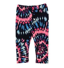Dori Creations Navy Pink Batik Legging