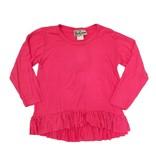 Dori Creations Hot Pink Long Sleeve Ruffle Infant Top