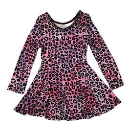 Social Butterfly Soft Pink Leopard L/S Dress