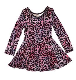 Social Butterfly Soft Pink Leopard Infant L/S Dress