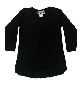 Dori Creations Black Long Sleeve Hi Lo Top