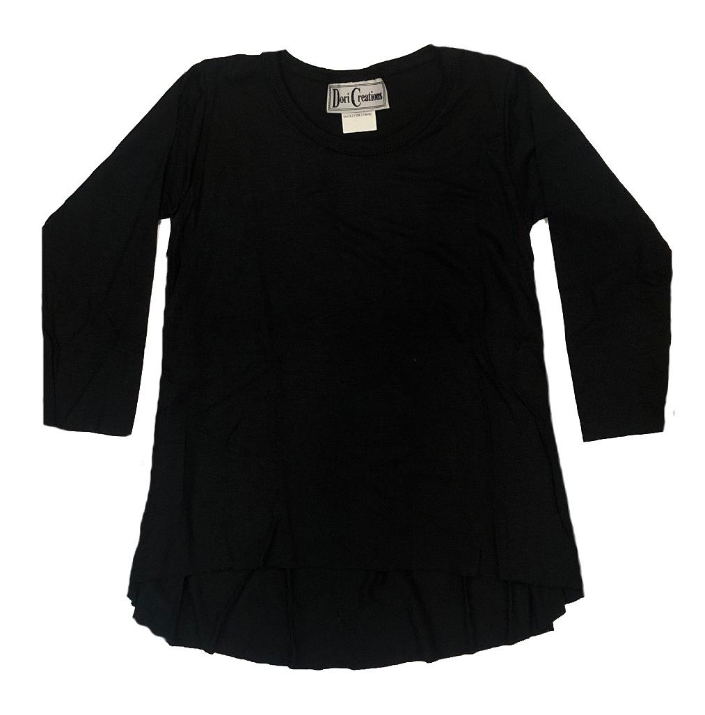 Dori Creations Black Long Sleeve Hi Lo Top