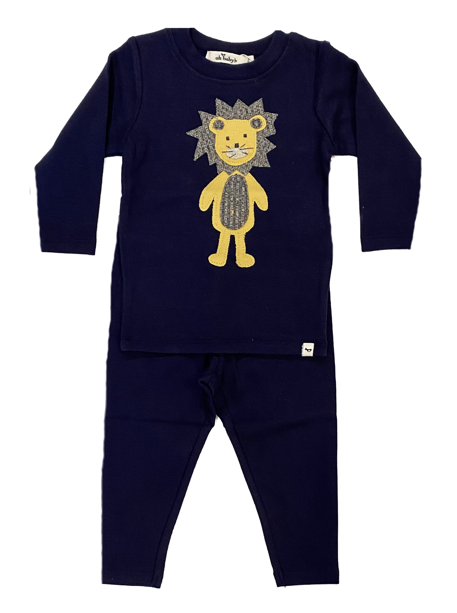 Oh Baby Navy Ragdoll Lion Set