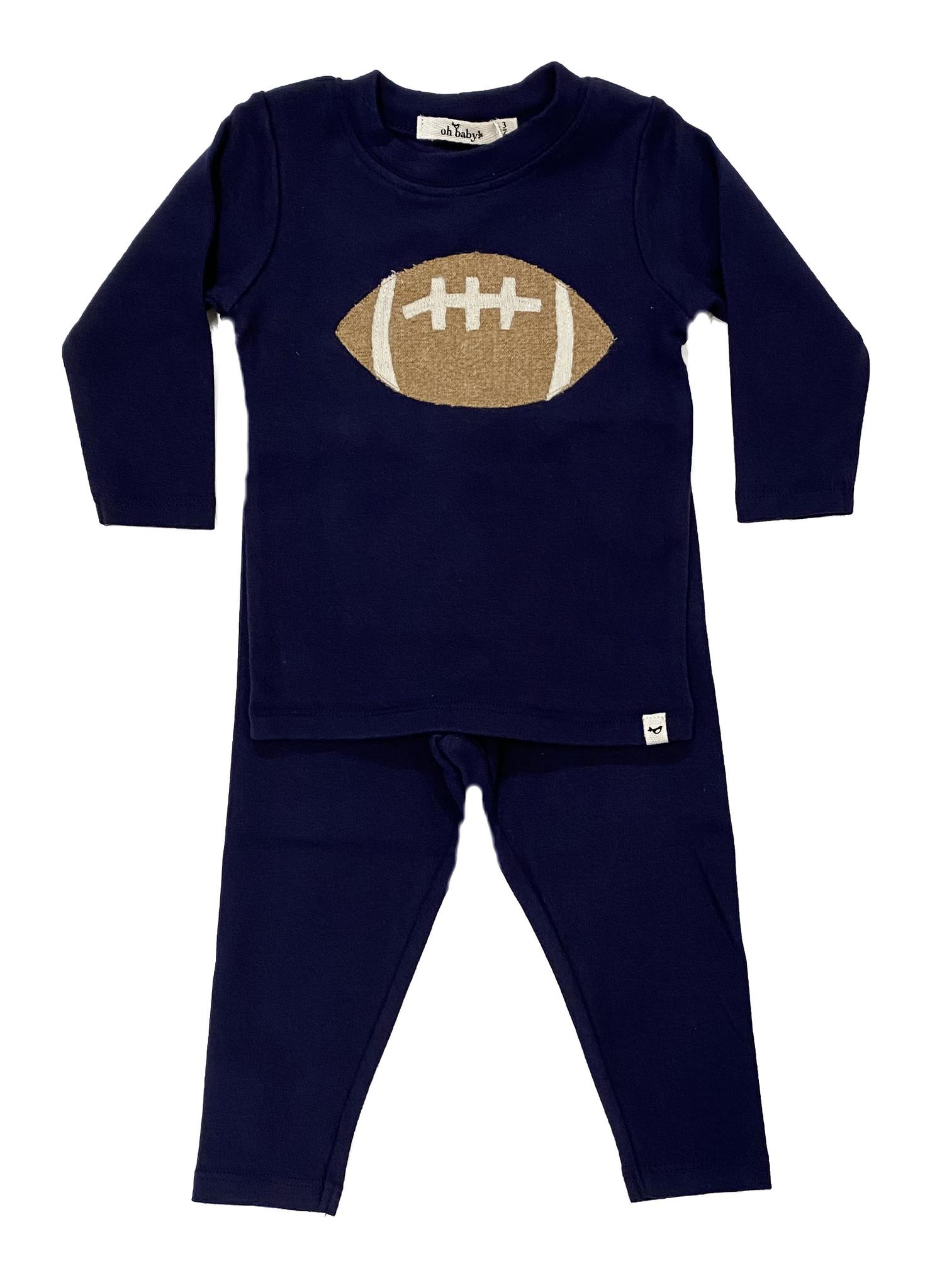 Oh Baby Navy Football Set