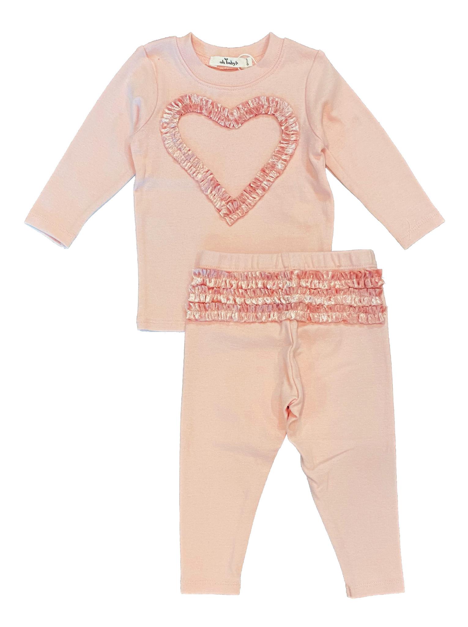 Oh Baby Velvet Ruffle Heart Set