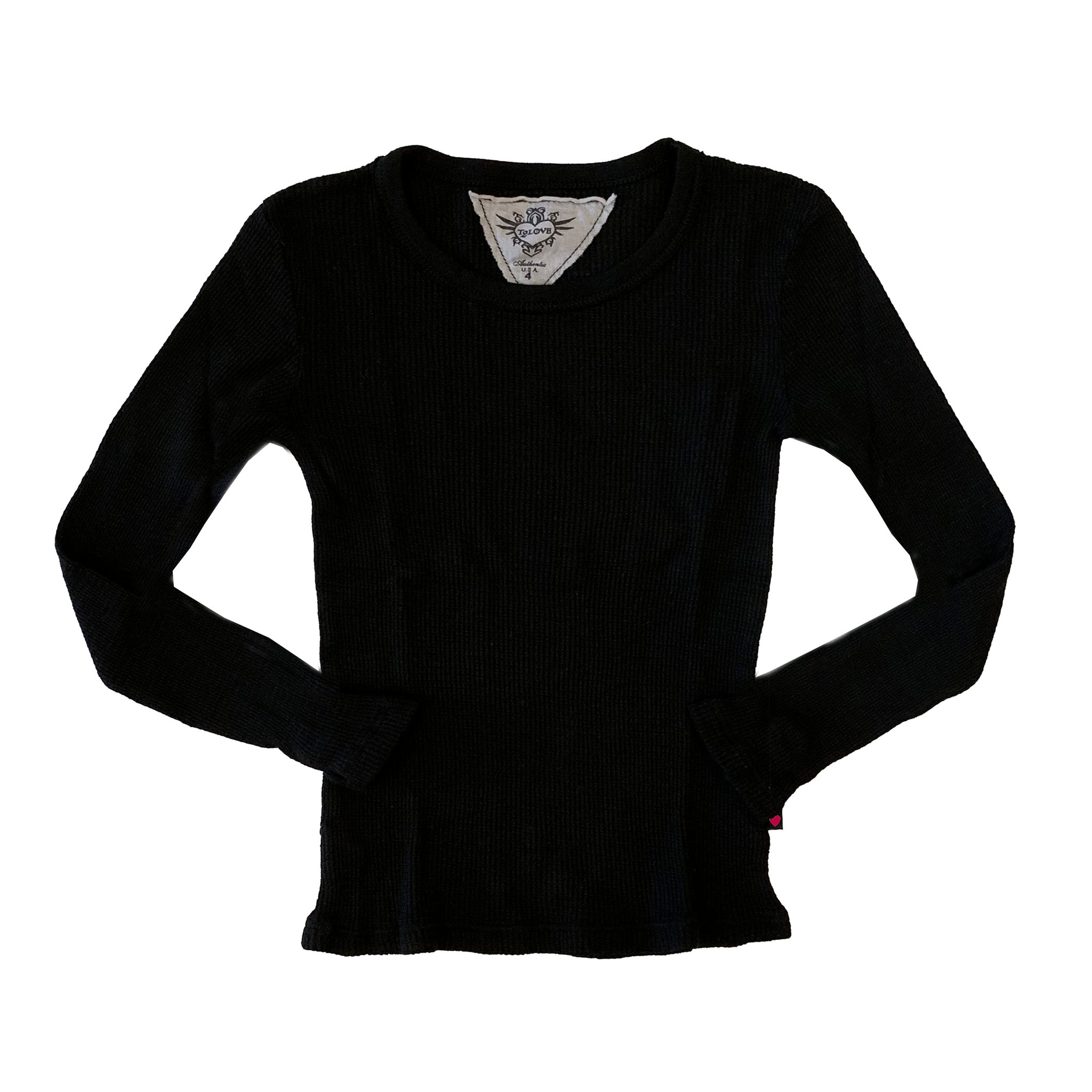T2Love Black Thermal Top with Thumbholes