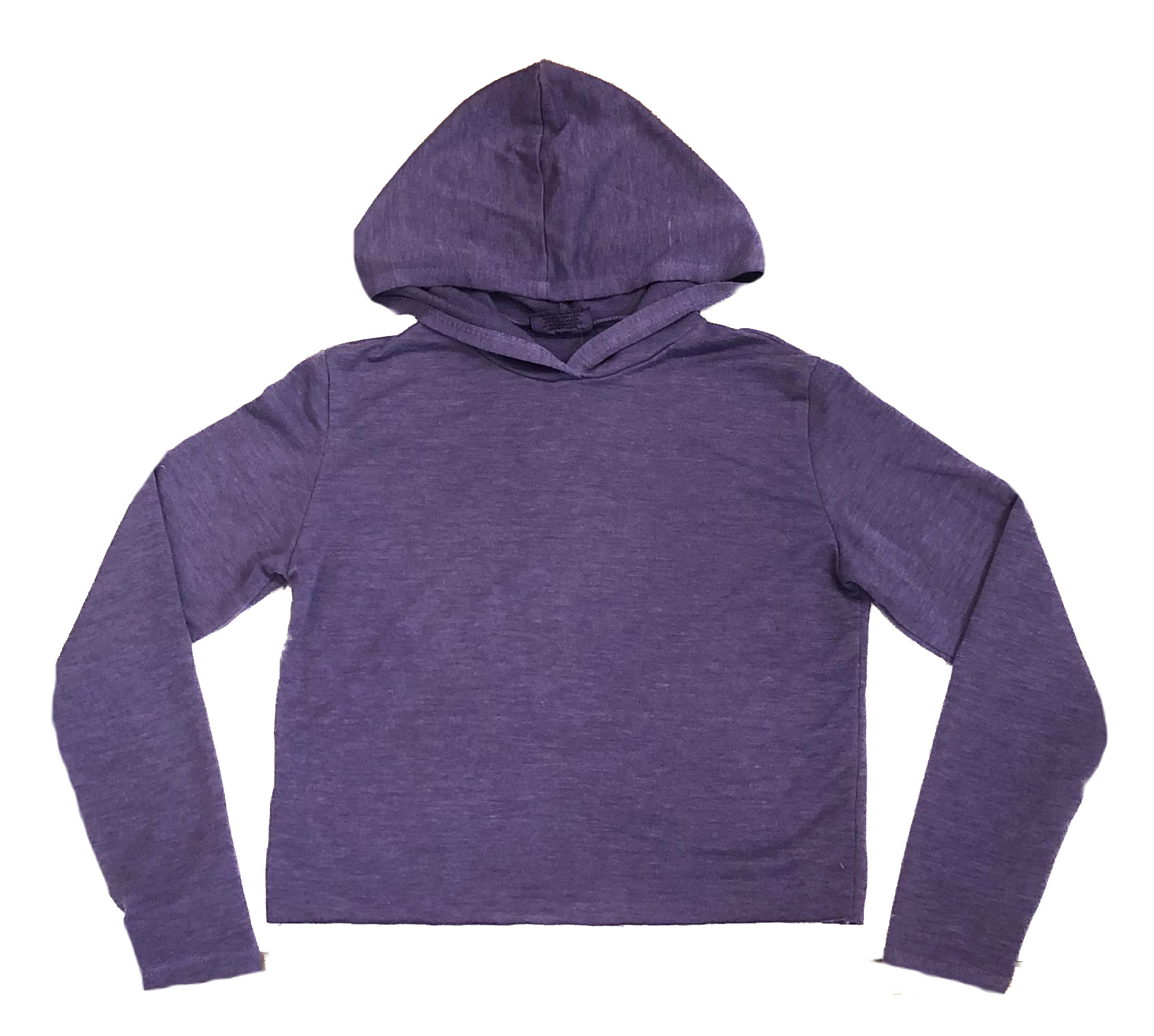 Firehouse Purple Cropped Hoodie