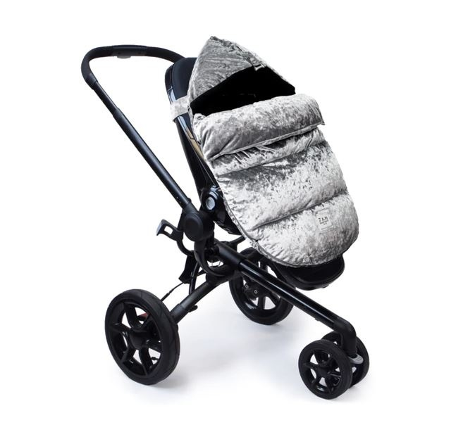 7AM Enfant Gray VelvetPOD Stroller & Car Seat Footmuff
