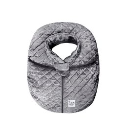 7AM Enfant Gray Velvet Car Seat Cocoon