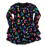 Flowers by Zoe Blk Rainbow Foil Heart  Dress