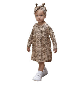 HUX Long Sleeve Leopard Swirl Dress