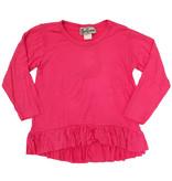 Dori Creations Hot Pink Long Sleeve Ruffle Top