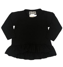 Dori Creations Black Long Sleeve Ruffle Top
