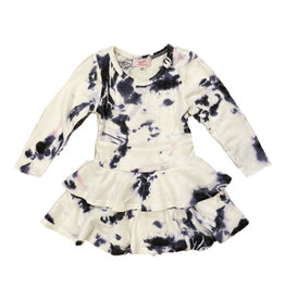 Sofi White/Navy Hacci 2 Tier Dress Toddler