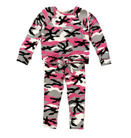 Sofi Fuschia Camo Knot Top Set Toddler