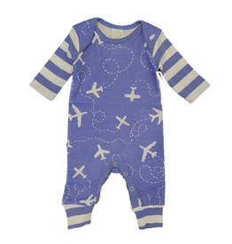 Tesa Babe Blue Airplane Romper