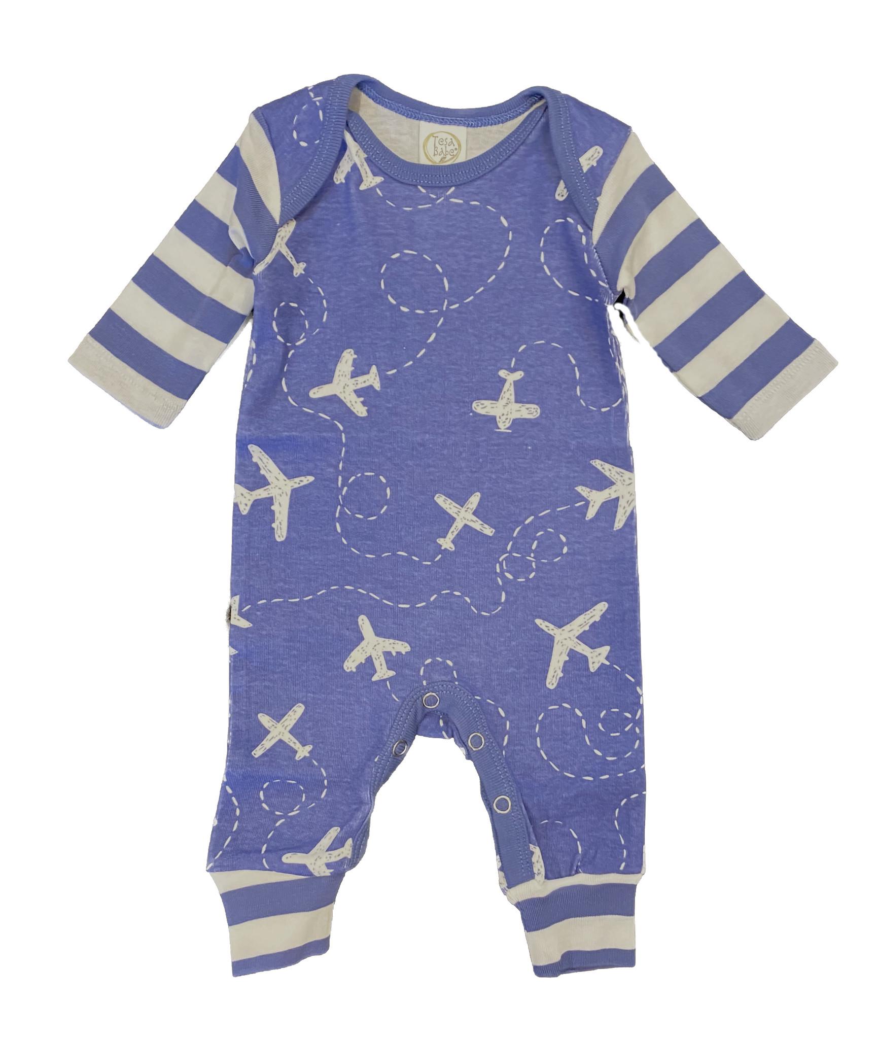 Tesa Babe Blue Airplane Romper