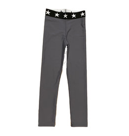 Katie J NYC Charcoal Billie Star Band Leggings