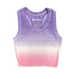 Katie J NYC Livi Lav/Pink Dip Dye Crop Ribbed Tank