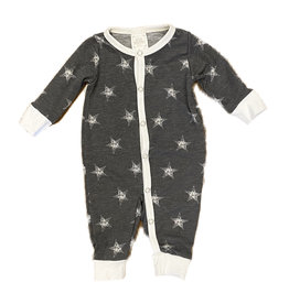 Too Cute Grey/Cream Stars Coverall