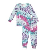 Esme Bright Tie Dye L/S Set