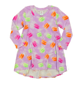 Esme Lavender Macaroon LS Dress